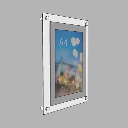 white aluminium poster frame a4