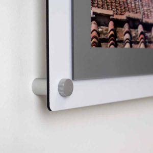 aluminium poster holder fixing detail