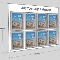 multiple A4 Poster displays for wall fixing