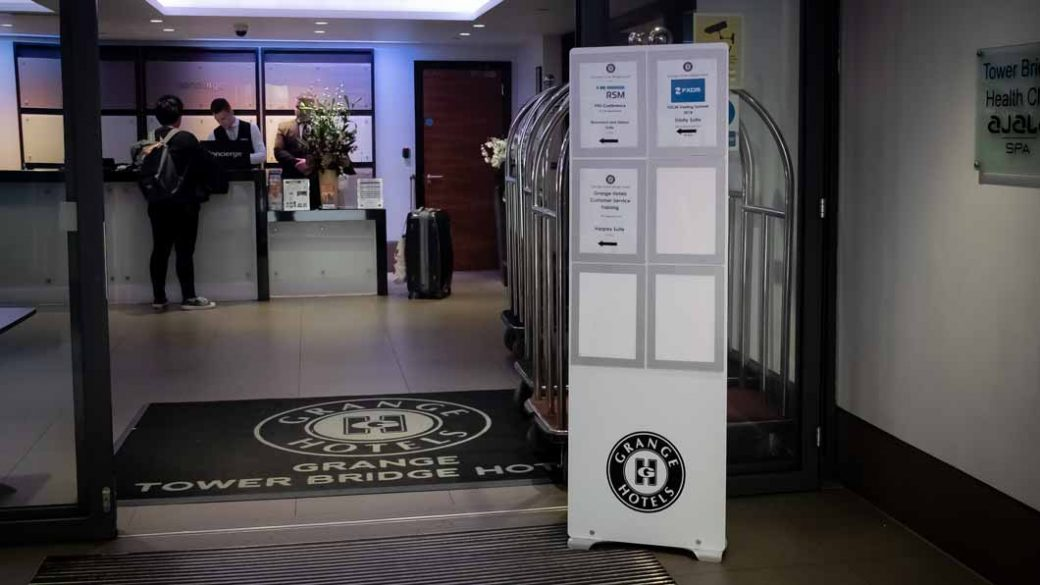Custom Floor Standing A4 Poster Display system with multiple holders