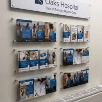 Custom wall fixed Literature Display system