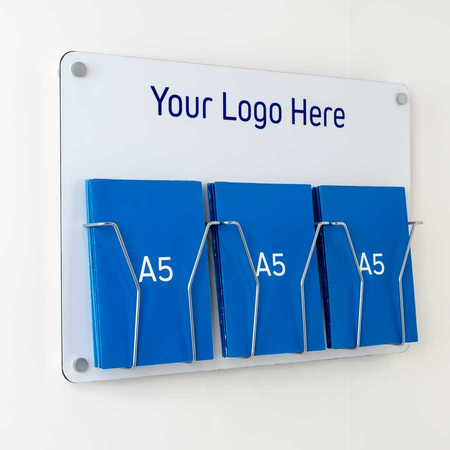 A5 Wire Leaflet holder with logo printing option