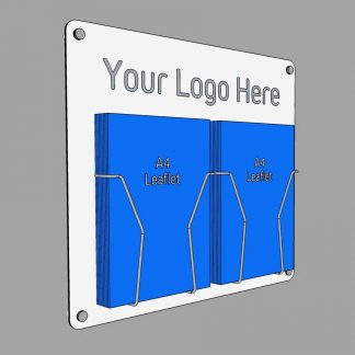 a4 leaflet holder with printed logo option