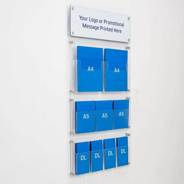 branded wall fixed literature display