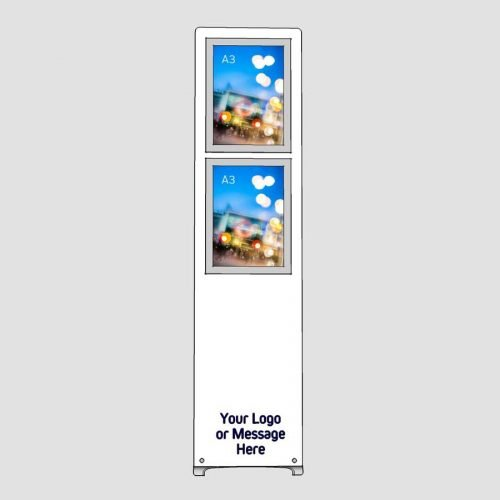 multiple a3 portrait poster display stand with logo