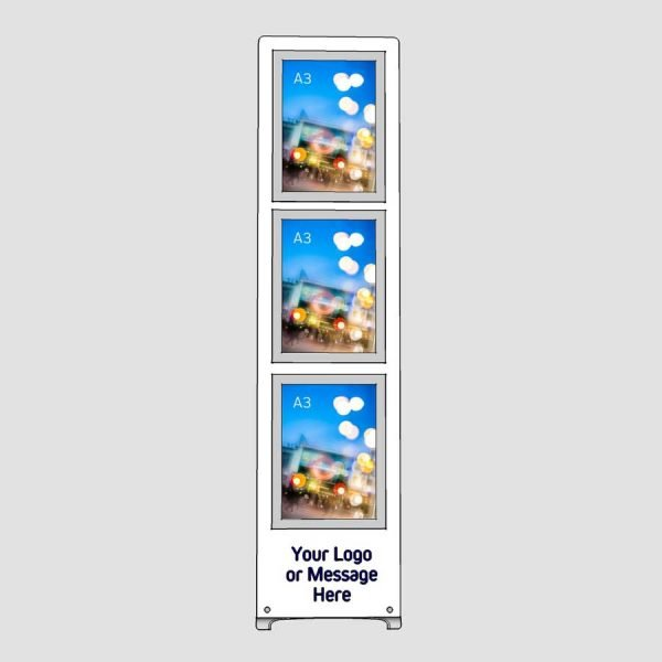 multiple a3 poster display stand with logo