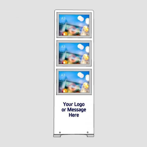 multiple a3 poster display stand