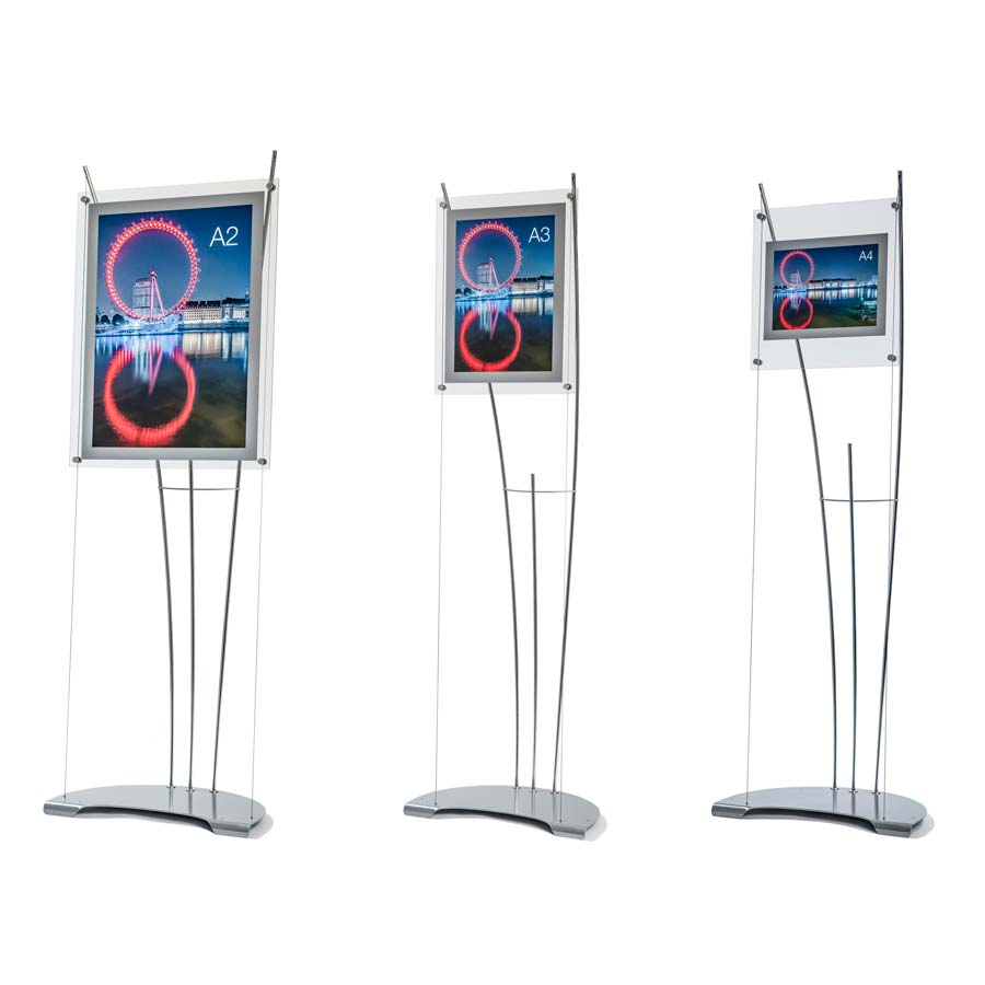 D3 range poster holder stands A2, A3 & A4