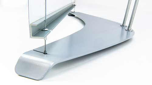 d4 steel base plate and banner detail
