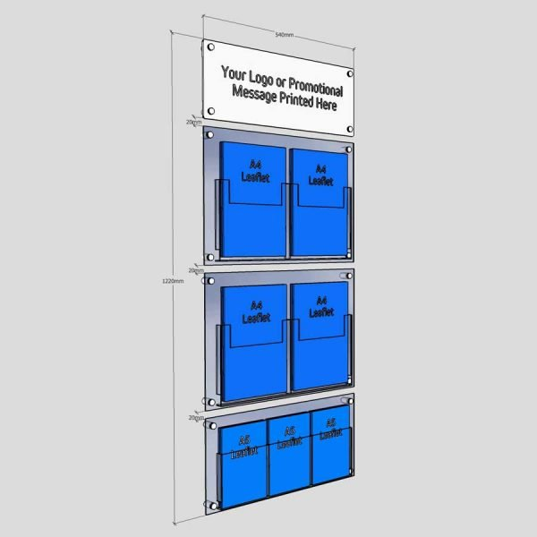 wall mounted branded leaflet display