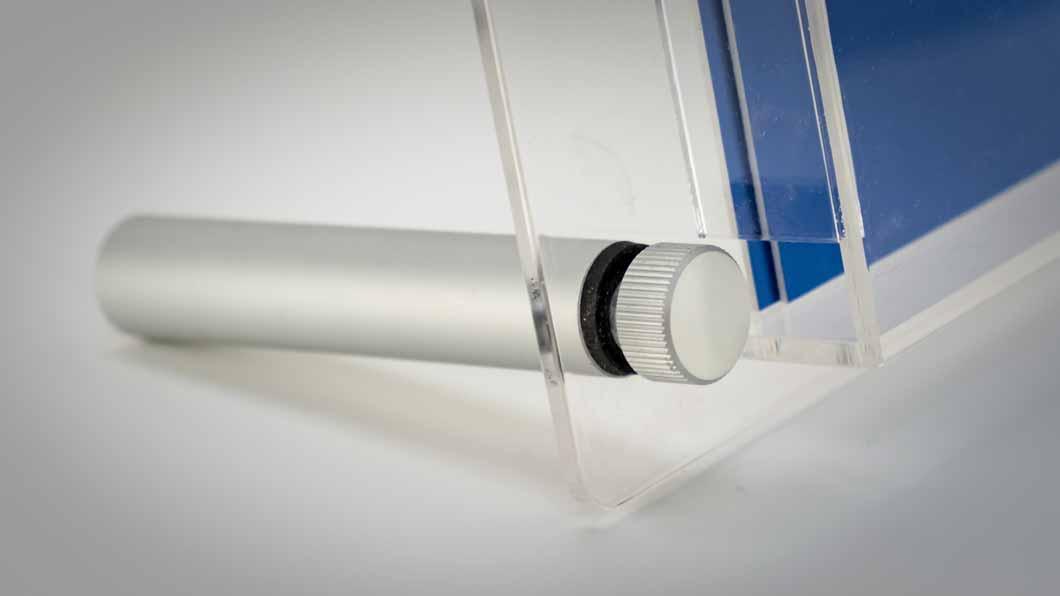 aluminium stand off foot for desktop displays