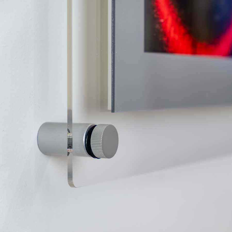 a3 acrylic poster holder wall fixing detail