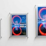 a4 a3 and a2 acrylci wall mounted poster holders