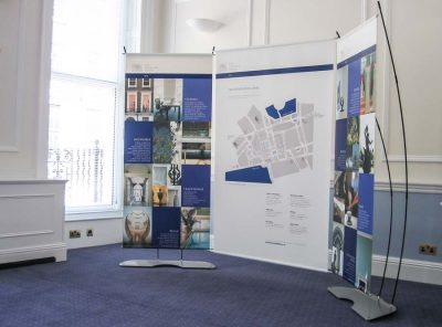 small banner exhibition system