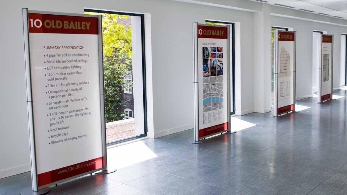 Exhibition Display Panels : Rigid exhibition panels used to promote office space