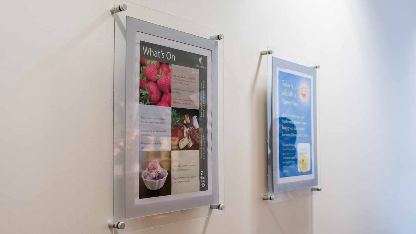 A3 acrylic wall fixed poster displays