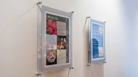 A3 wall fixed poster holders